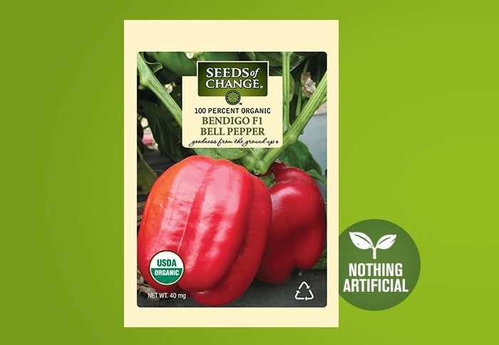 Seeds of Change® Organic Bendigo Bell Pepper Seeds Front of Pack