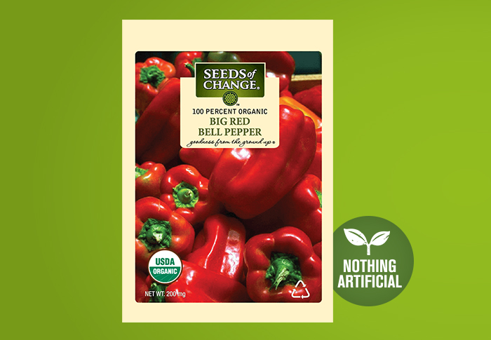 Seeds of Change® Organic Big Red Bell Pepper Seeds Front of Pack