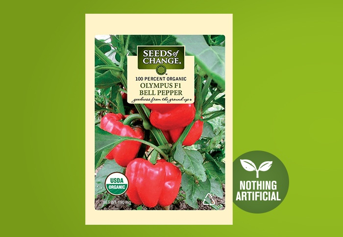 Seeds of Change® Organic Olympus Bell Pepper Seeds Front of Pack