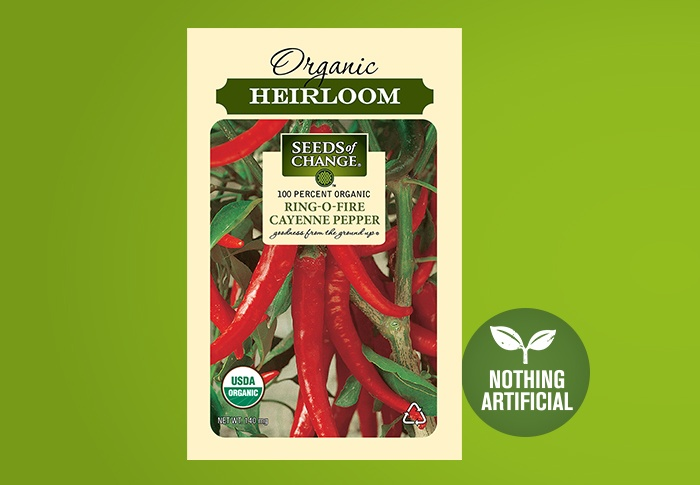 Seeds of Change® Organic Ring O Fire Cayenne Pepper Seeds Front of Pack