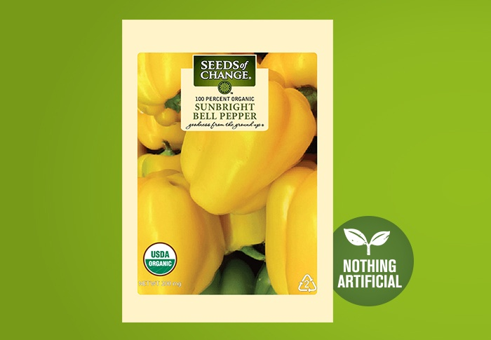 Seeds of Change® Organic Sunbright Bell Pepper Seeds Front of Pack