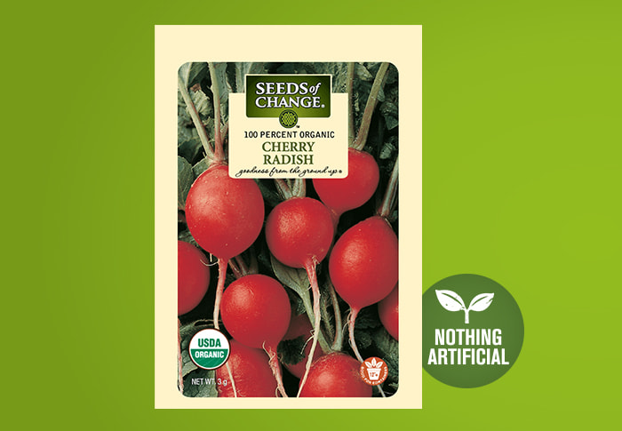 Seeds of Change® Organic Cherry Radish Seeds Front of Pack