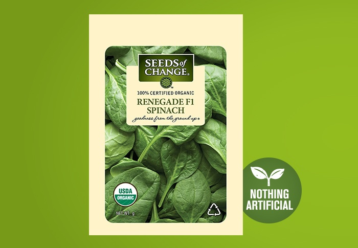 Seeds of Change® Organic Renegade Spinach Seeds Front of Pack