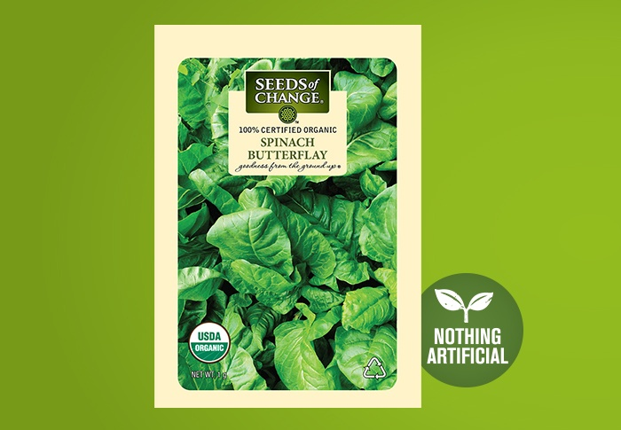 Seeds of Change® Organic Organic Spinach Butterflay Seeds Front of Pack