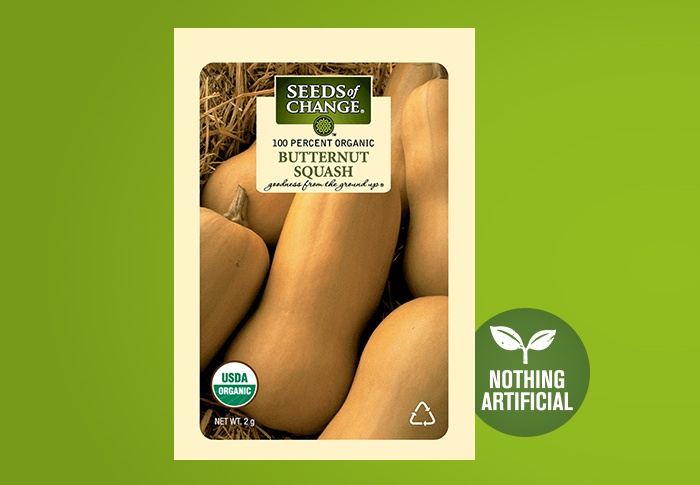 Seeds of Change® Organic Butternut Squash Seeds Front of Pack