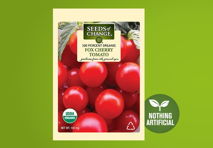Seeds of Change® Organic Fox Cherry Tomato Seeds Front of Pack