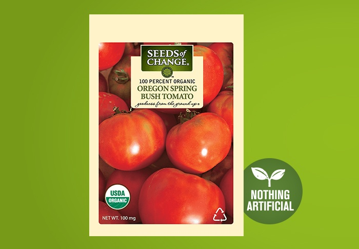 Seeds of Change® Organic Oregon Spring Tomato Seeds Front of Pack