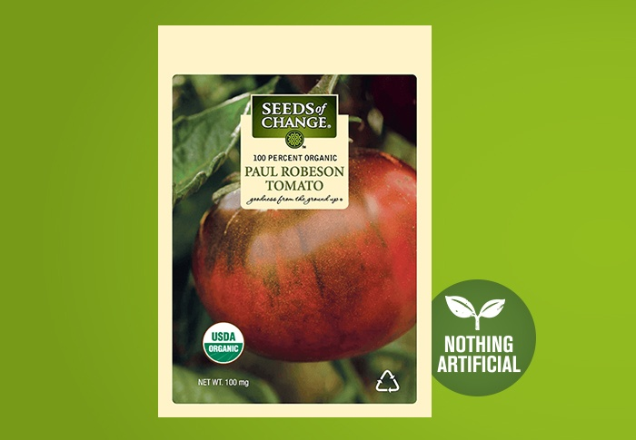 Seeds of Change® Organic Paul Robeson Tomato Seeds Front of Pack