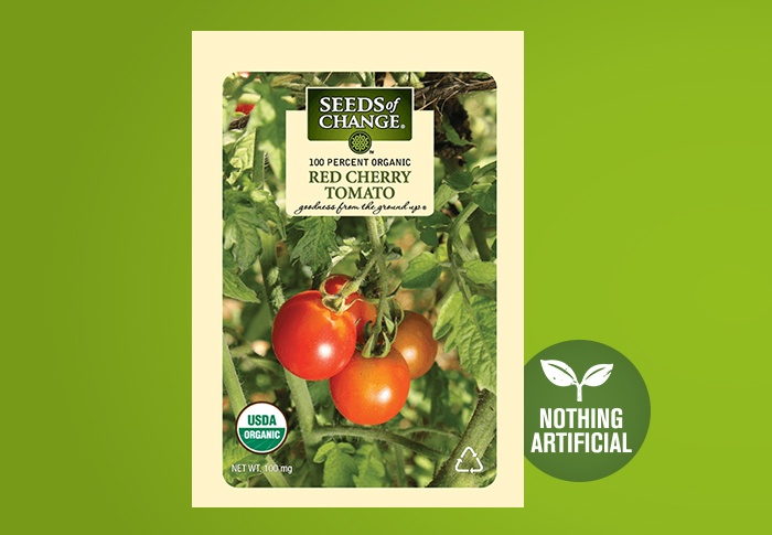 Seeds of Change® Organic Red Cherry Tomato Seeds Front of Pack
