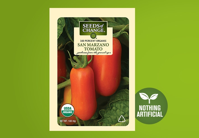 Seeds of Change® Organic San Marzano Tomato Seeds Front of Pack