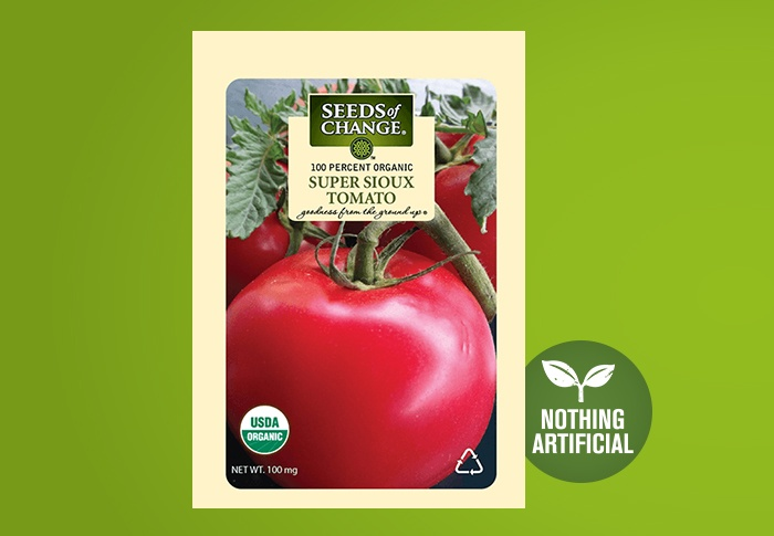 Seeds of Change® Organic Super Sioux Tomato Seeds Front of Pack
