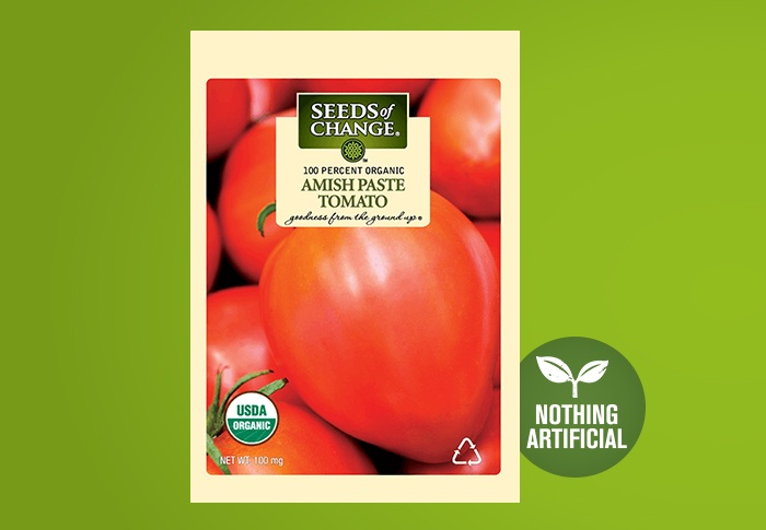 Seeds of Change® Organic Amish Paste Tomato Seeds Front of Pack