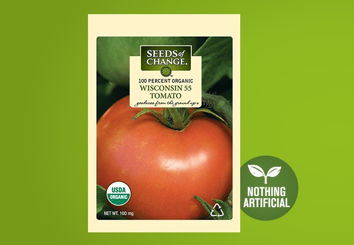 Seeds of Change® Organic Wisconsin 55 Tomato Seeds Front of Pack