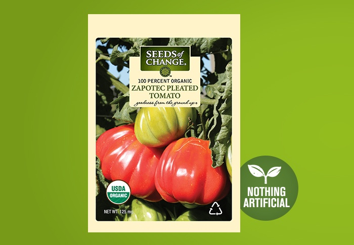 Seeds of Change® Organic Zapotec Pleated Tomato Seeds Front of Pack
