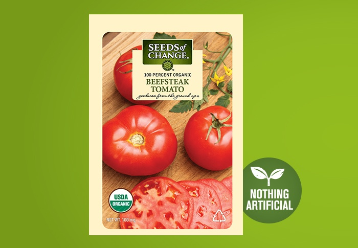 Seeds of Change® Organic Beefsteak Tomato Seeds Front of Pack