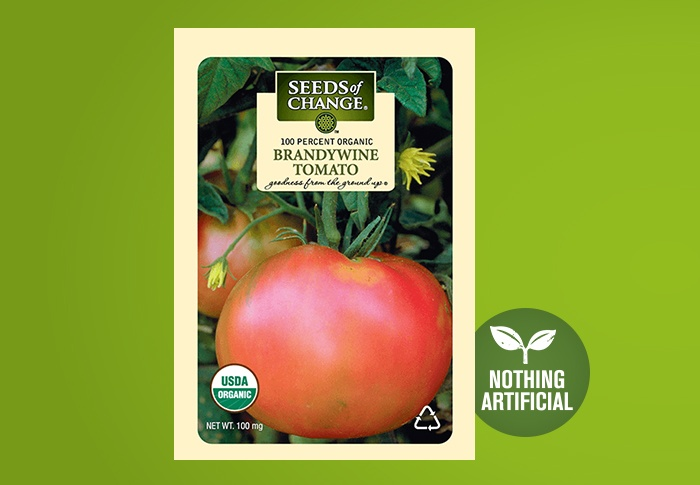 Seeds of Change® Organic Brandywine Tomato Seeds Front of Pack