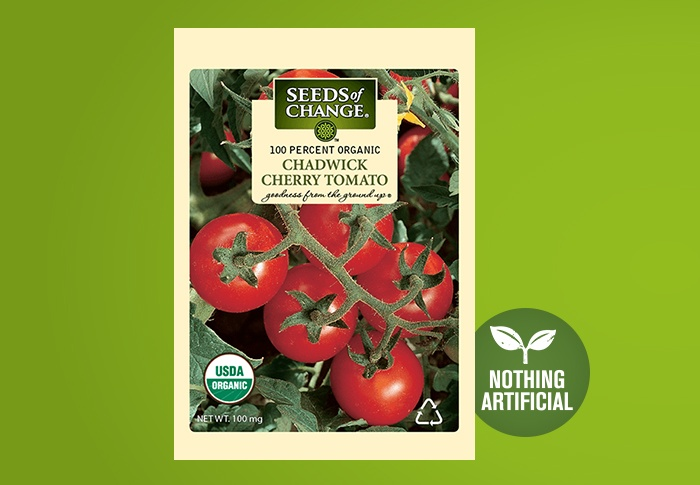 Seeds of Change® Organic Chadwick Cherry Tomato Seeds Front of Pack