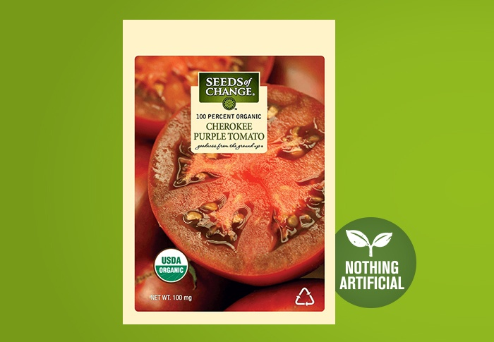 Seeds of Change® Organic Cherokee Purple Tomato Seeds Front of Pack