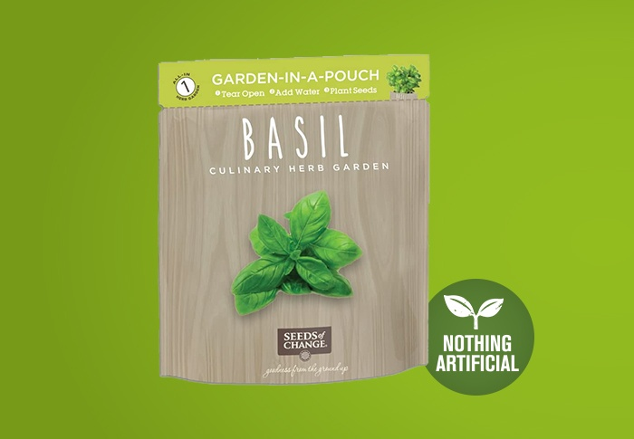 Seeds of Change® Organic Basil Garden in a Pouch Front of Pack