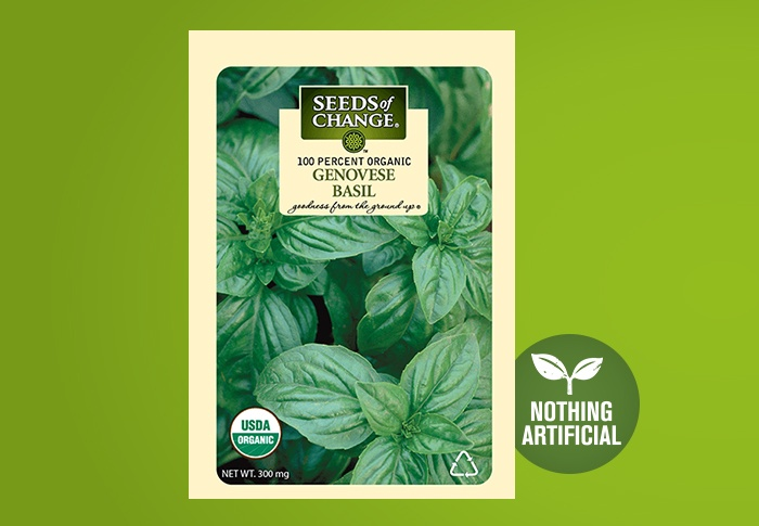 Seeds of Change® Organic Genovese Basil Seeds Front of Pack