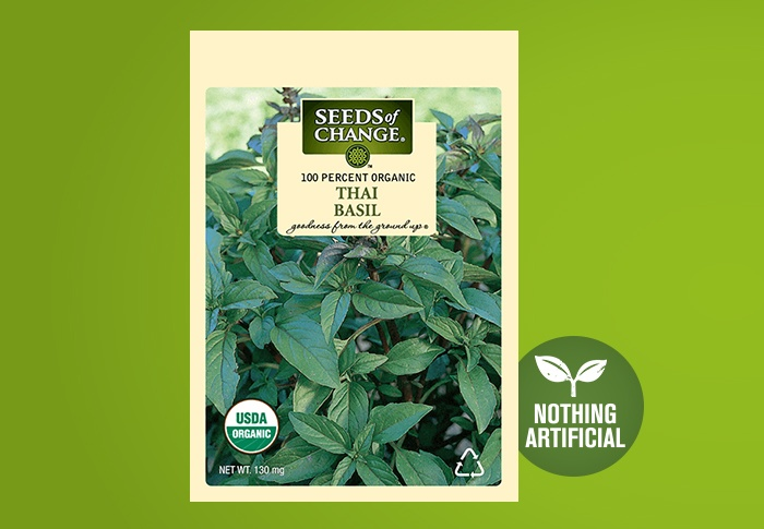 Seeds of Change® Organic Thai Basil Seeds Front of Pack