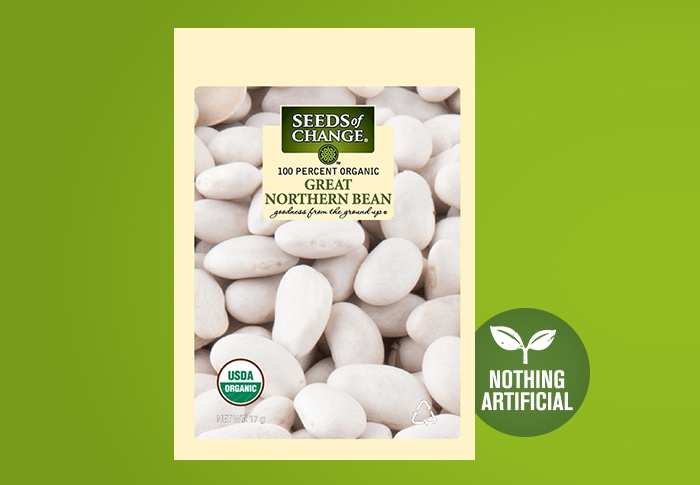 Seeds of Change® Organic Great Northern Bean Seeds Front of Pack
