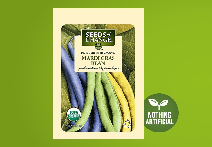 Seeds of Change® Organic Mardi Gras Blend Bean Seeds Front of Pack