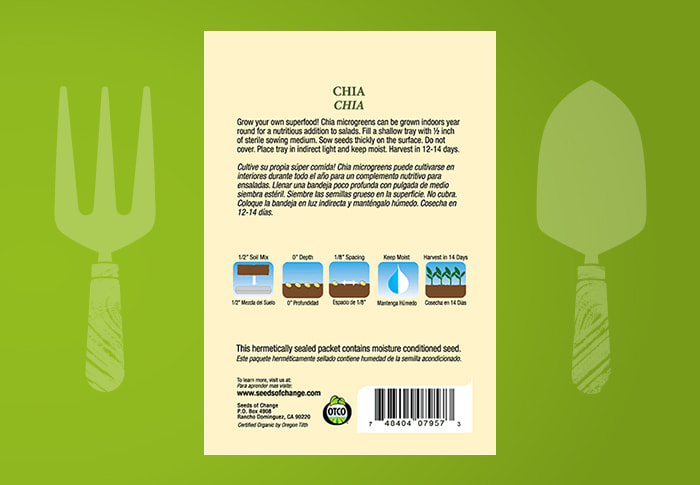 Seeds of Change® Organic Chia Seeds Back of Pack