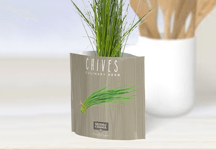 Seeds of Change® Organic Chive Garden in a Pouch plant