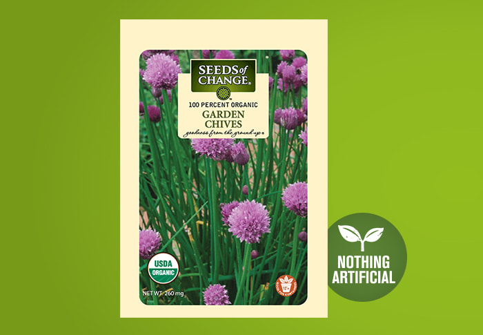 Seeds of Change® Organic Garden Chive Seeds Front of Pack