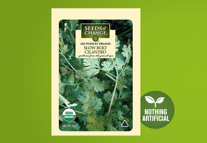 Seeds of Change® Organic Slow Bolt Cilantro Seeds Front of Pack