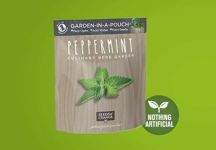 Seeds of Change® Organic Peppermint Garden in a Pouch Front of Pack