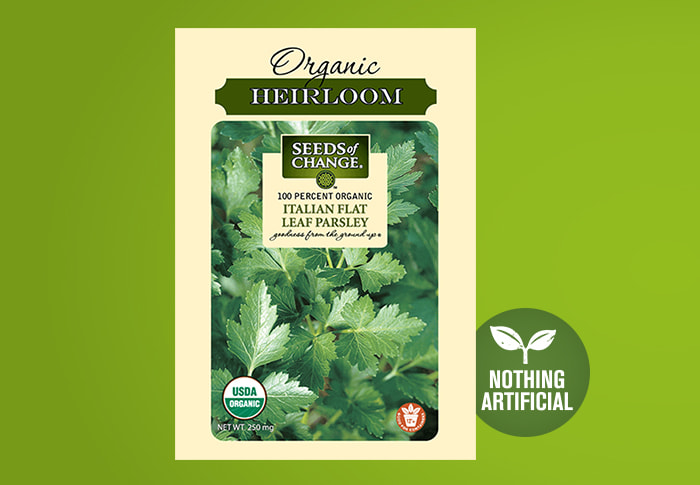 Seeds of Change® Parsley Front of Pack