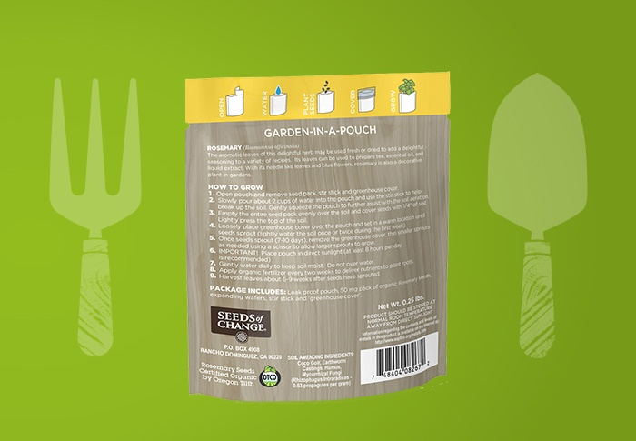 Seeds of Change® Rosemary Back of Pack