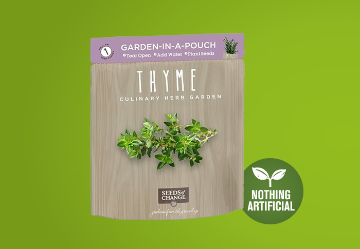 Seeds of Change® Organic Thyme Garden in a Pouch Front of Pack