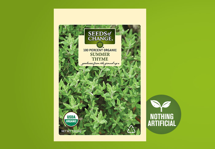 Seeds of Change® Organic Summer Thyme Seeds Front of Pack