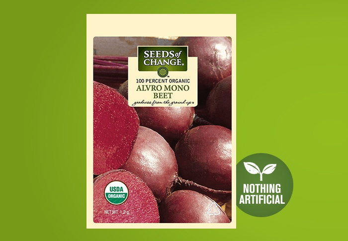 Seeds of Change® Organic Alvro Mono Beet Seeds Front of Pack