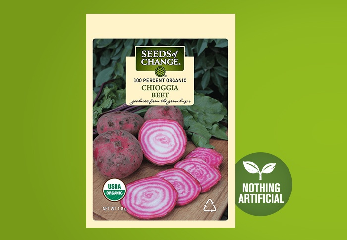 Seeds of Change® Organic Chioggia Beet Seeds Front of Pack