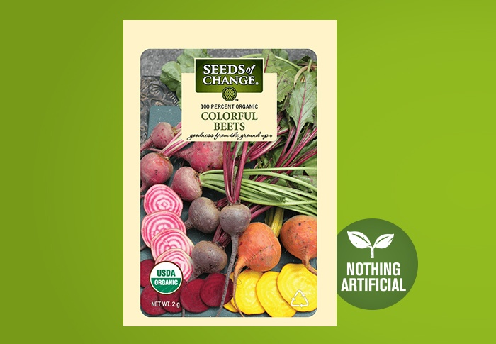 Seeds of Change® Organic Colorful Beet Seeds Front of Pack