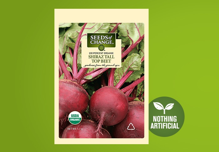 Seeds of Change® Organic Shiraz Tall Top Beet Seeds Front of Pack