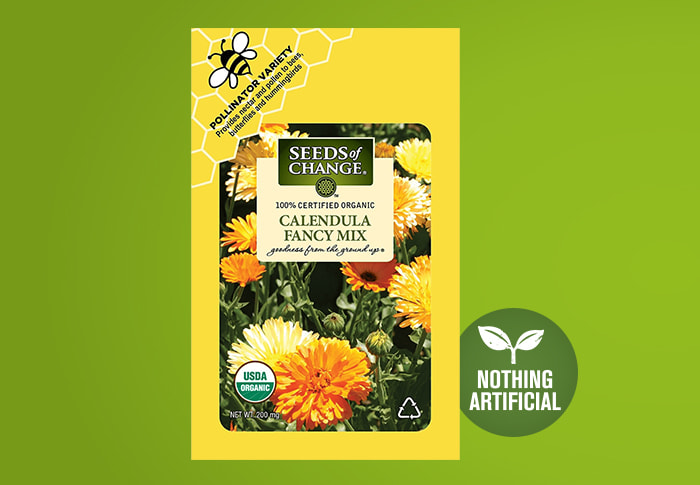 Seeds of Change® Calendula Fancy Front of Pack