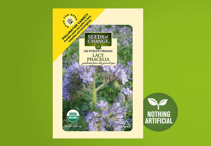 Seeds of Change® Phacelia Front of Pack