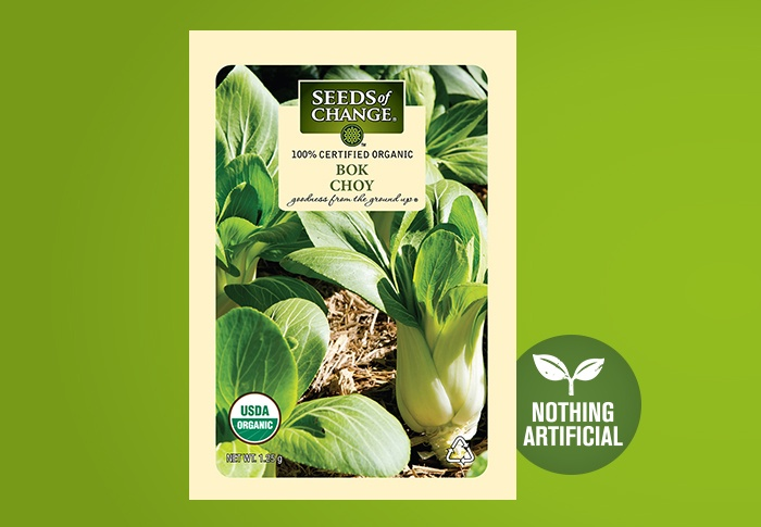 Seeds of Change® Organic Bok Choy Seeds Front of Pack