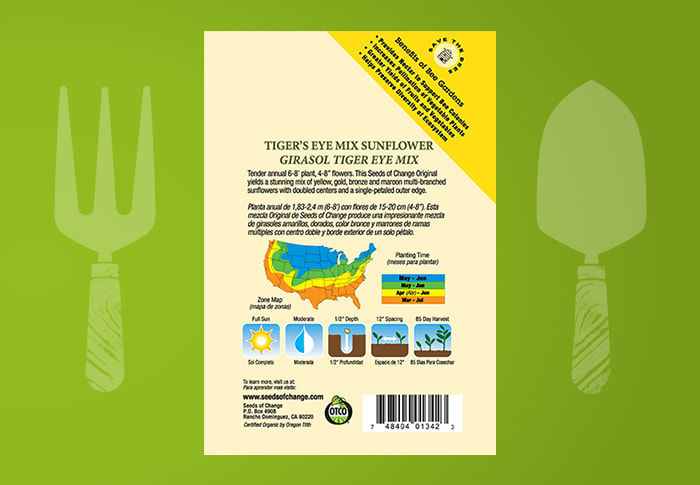 Seeds of Change® Sunflower Back of Pack