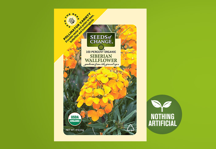 Seeds of Change® Wallflower Front of Pack