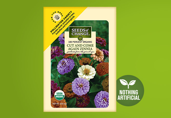 Seeds of Change® Zinnia Front of Pack