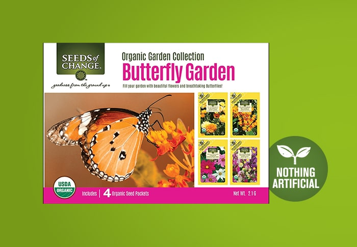 Seeds of Change® Butterfly Garden Collection Front of Pack