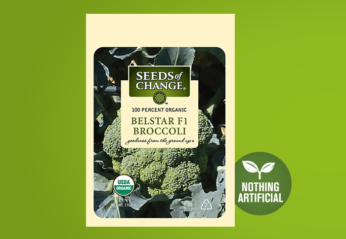 Seeds of Change® Organic Bellstar Broccoli Seeds Front of Pack