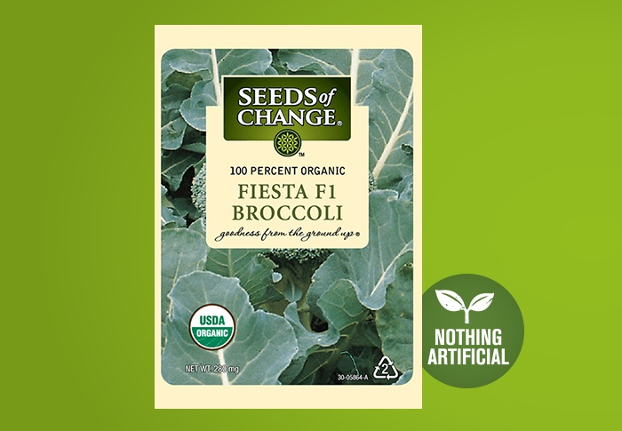 Seeds of Change® Organic Fiesta Broccoli Seeds Front of Pack