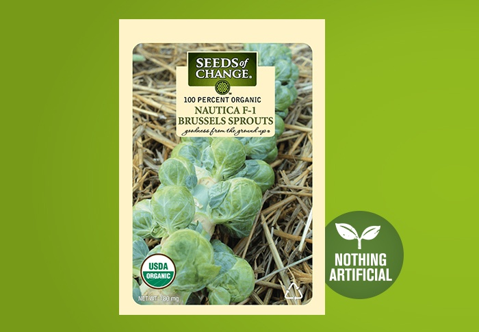 Seeds of Change® Organic Nautic Brussels Sprouts Seeds Front of Pack